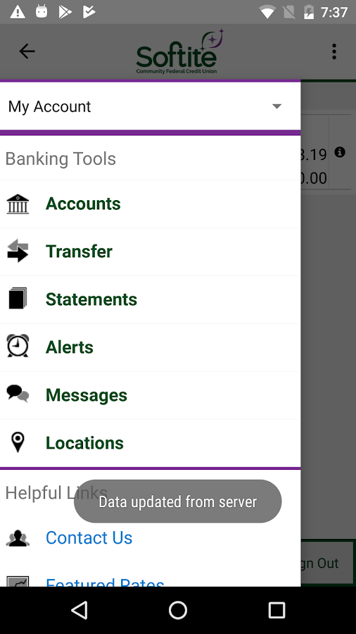 Softite Mobile Banking- screenshot