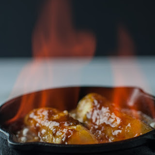 Caribbean Rum Bananas Flambé with Amaretto.