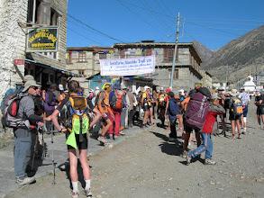 Photo: Manang :Depart pour un Trail