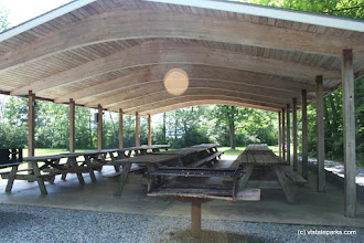 Photo: Picnic pavilion at Bomoseen State Park by Christie Ertel