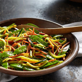 Sauteed Vegetables with Garlic & Soy Sauce Recipe