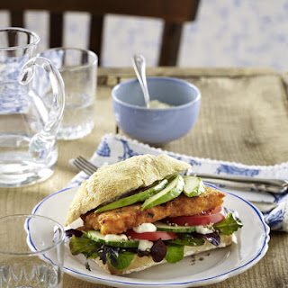 Salmon Cakes on Ciabatta