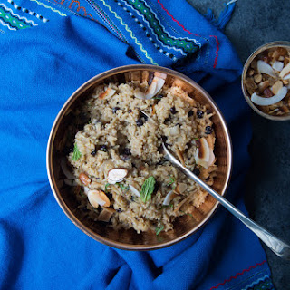 Sweet Coconut Curry Rice with Currants and Almonds Recipe