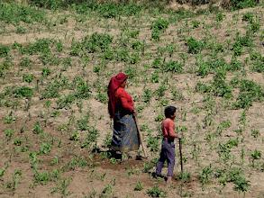 Photo: Farmers at Mulkharka (1800m)