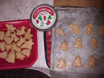 Dog Treat-Peanut Butter Shortbread