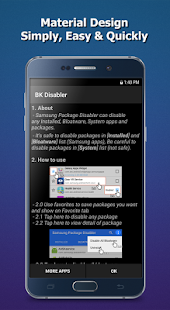 BK Package Disabler (Android) Screenshot