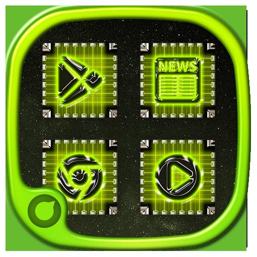 个人化のSolo Launcher Chip LOGO-記事Game