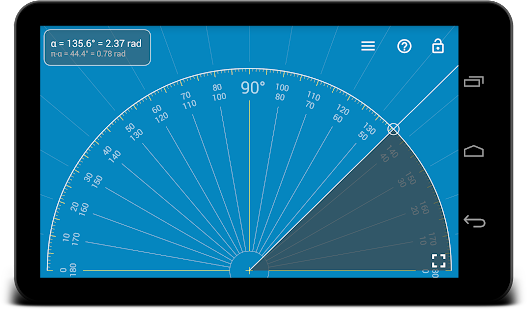 Millimeter Pro - screen ruler, protractor, level Screenshot
