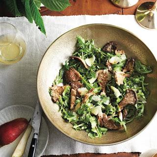 Warm Mushroom Arugula Salad