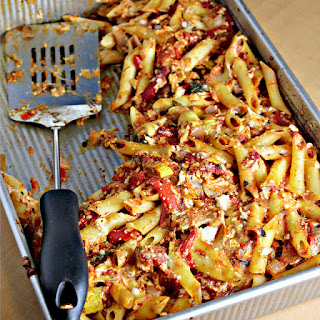 Penne Pasta with Roasted Veggies