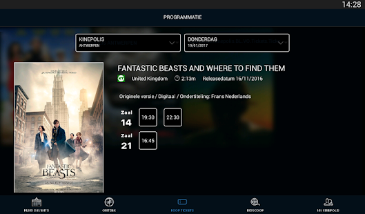 Kinepolis- screenshot thumbnail