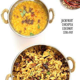 Jackfruit Chickpea Coconut Stir fry - Fanasachi Bhaji