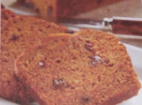 Pumpkin Carrot Raisin Bread Recipe