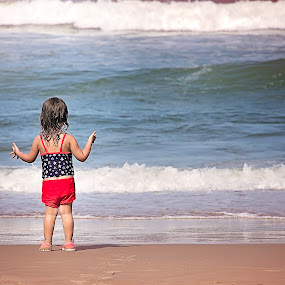 Let There Be Waves by Maria Lucas - Babies & Children Toddlers ( waves, toddler, childhood, beach, photography,  )