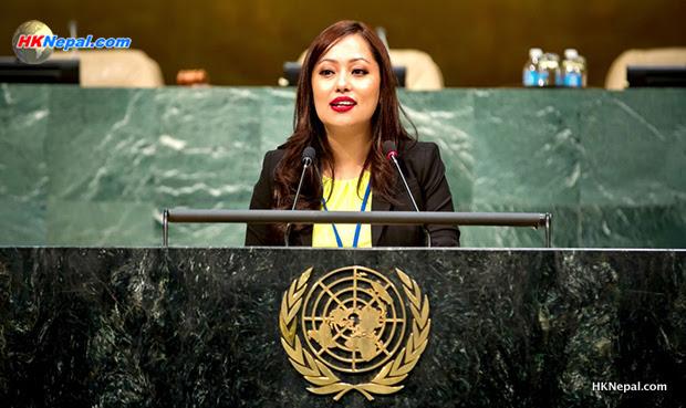 नेपाली चेली संयुक्त राष्ट्र संघ युवा सम्मेलनको अध्यक्षमा नियुक्त