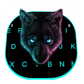 Cool Neon Wolf Keyboard Theme