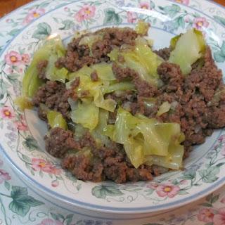 Hamburger and Cabbage.