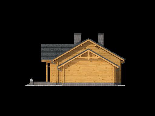 Chmielów dw z garażem - Elewacja prawa