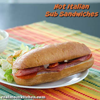 Hot Italian Sub Sandwiches.