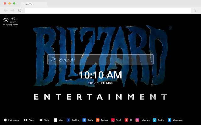 Blizzard Entertainment Top HD New Tab Theme