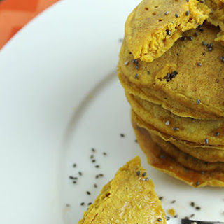 Sweet Potato Chia Seed Pancakes.