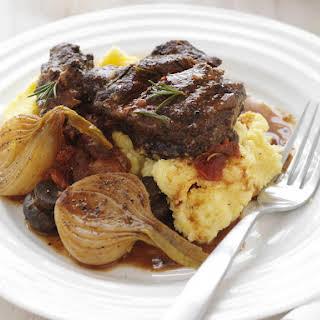 Red Wine Braised Beef Cheeks with Polenta.