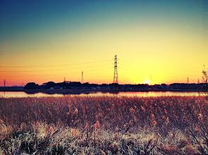 Photo: A beautiful sunset along Lake Teganuma in Kashiwa, Japan