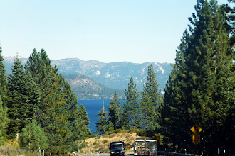 Photo: Our first glimpse of Lake Tahoe