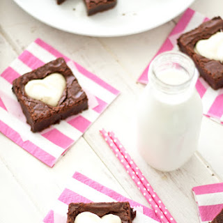 Cheesecake Brownie Hearts