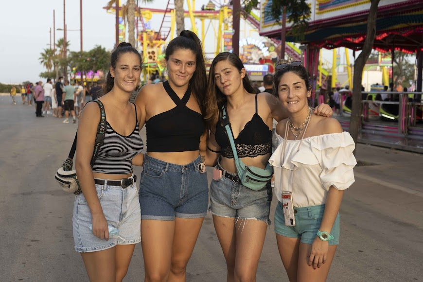 Sara, Marta, Andrea y Natasha