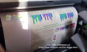 Photo: Poster B1 - użyto papieru fotograficznego czas druku - około 6 min.