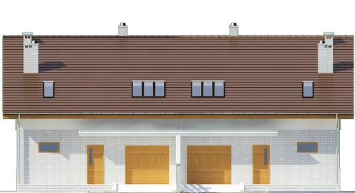 Radosna z garażem 1-st. bliźniak A-BL1 - Elewacja przednia