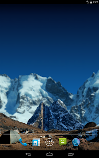 3d Parallax Weather Live Wallpaper For Android Os In High Mountains Free Apps On Google Play