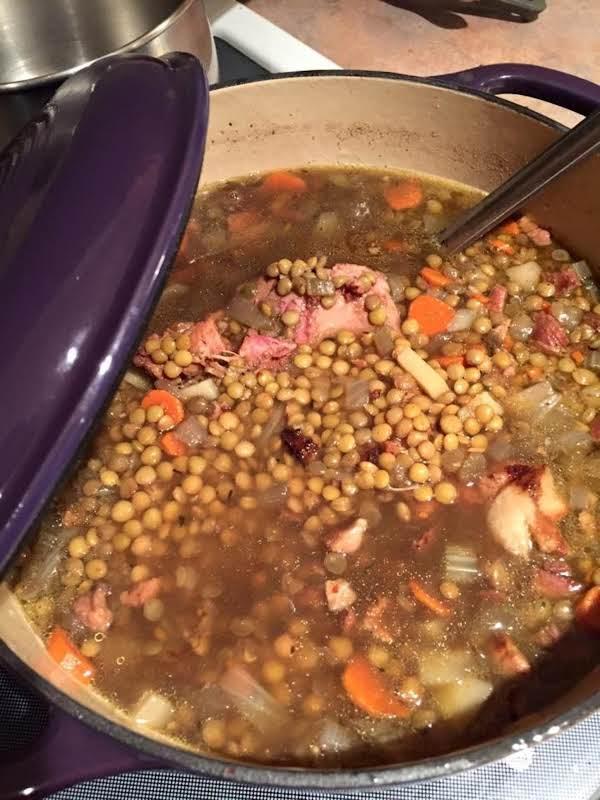 Der Rhinelander Lentil Soup Recipe