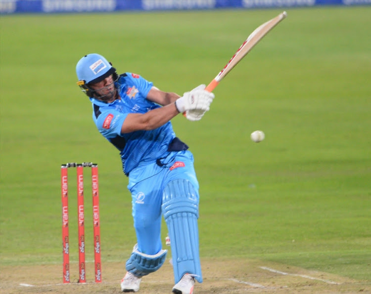 AB de Villiers of the Titans during the RAM SLAM T20 Challenge match between Multiply Titans and bizhub Highveld Lions at SuperSport Park on November 10, 2017 in Pretoria, South Africa.