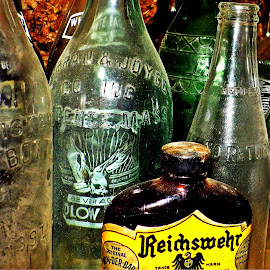old bottles 2 by Martin Stepalavich - Artistic Objects Glass