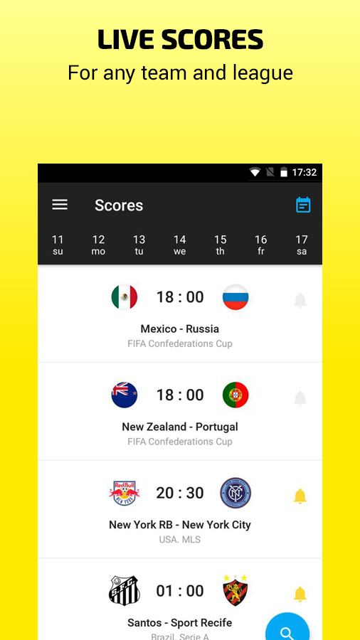 Scores & Video – Soccer results, goal, table live- screenshot