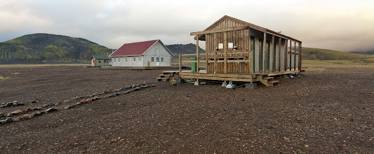 Photo: ... toilets and showers (currently no hot water), Alftavatn hut ...