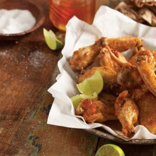 Fried Chicken Wings with Honey-Lime Sauce.