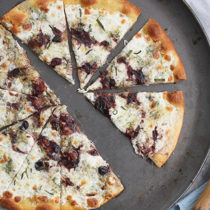 Gorgonzola Pizza with Jam Drizzle Recipe