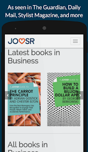 Joosr Book Summaries- screenshot thumbnail