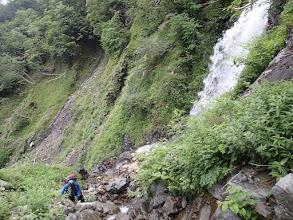 Photo: 滝右手ルンゼから登りトラバース