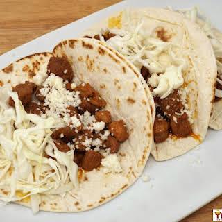 Crispy Ancho Pork Tacos.