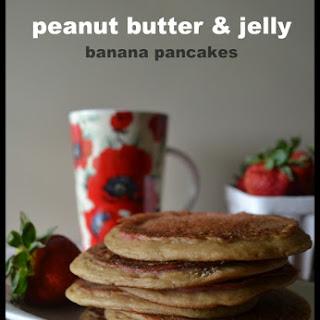 Vegan Peanut Butter, Jelly and Banana Pancakes