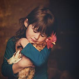 Chicken Love by Chrismari Van Der Westhuizen - Babies & Children Child Portraits ( chicken, childhood, children, portrait, pet, kids )
