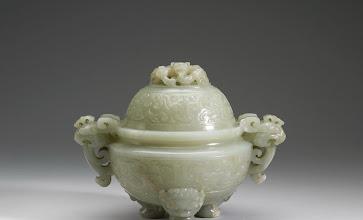 Photo: Qianlong Period Mutton Fat jade Incense Bowl