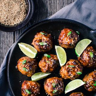 Asian BBQ Chicken Meatballs.