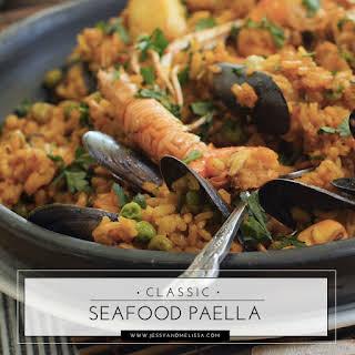 Classic Seafood Paella.
