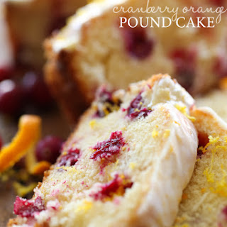 Cranberry Orange Pound Cake.