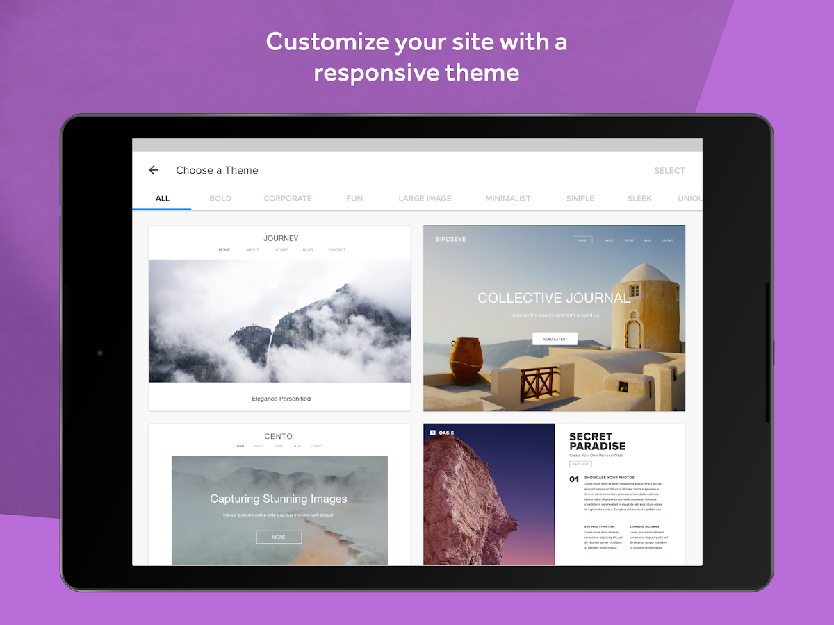 Weebly - Create a Free Website- screenshot